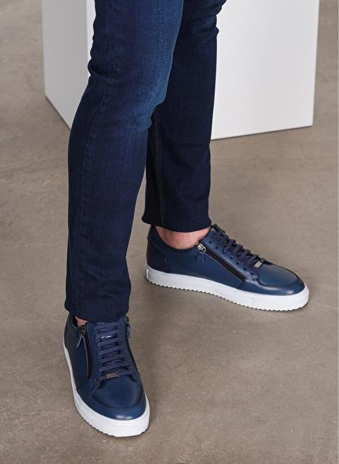 D by Divarese %100 Deri  Casual Ayakkabı Mavi